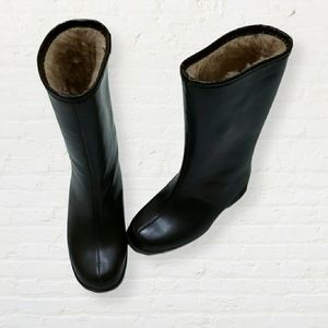 Vintage Canadian brown winter lined Borg boots